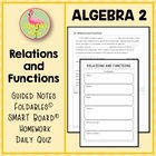 Functions ALG 2 Lesson 1: Relations and Functions