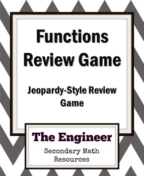 Functions - Jeopardy Review Game