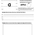 Fundations Homework Packet - Weekly Homework - Letter A