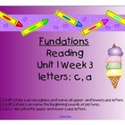 Fundations Letters c and a