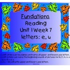 Fundations Letters e and u