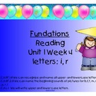 Fundations Letters i and r
