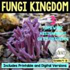 Fungi Homework Set of 2 Worksheets