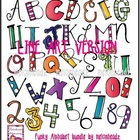 Funky Alphabet LINE ART bundle by melonheadz
