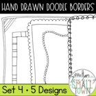Funky Doodle Border Frames- Clip Art
