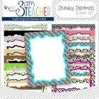 Funky Frames Set (clip art borders)