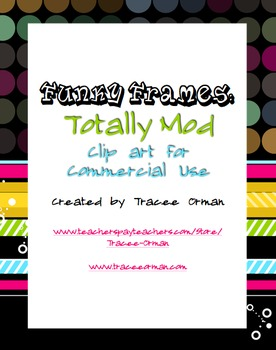 Funky Frames: Totally Mod Dots & Stripes Clip Art Accents