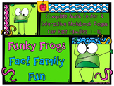 Funky Frogs Fact Family Fun Interactive Notebook Pages & M