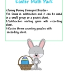 Funny Bunny Math Pack - Easter