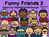 Funny Friends 2 Clipart Collection-Headshots-Commercial Us