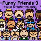 Funny Friends 3 Clipart Collection-Commercial Use-Headshot