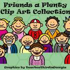 Funny Friends Clip Art Collection-Headshots-Commercial Use