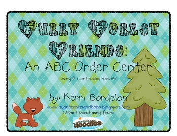 Furry Forest Friends! ABC Order center using R-Controlled Vowels
