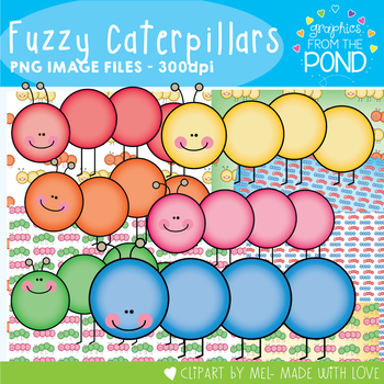 Fuzzy Caterpillars - Clip Art Graphics for your Teaching R