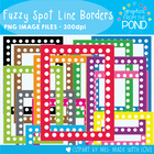 Fuzzy Spot Line Borders / Frames - Commercial Use Graphics