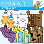 G Set Clipart for Phonics Alphabet Resources