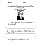 G. Washington Response Sheet