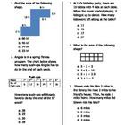 GA Common Core Math Unit 4 Assessment