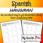 GAMES: Hangman (El ahorcado) in Spanish.  Worksheet or Handout
