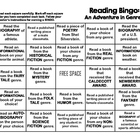 GENRE Reading Bingo Sheet