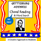 GETTYSBURG ADDRESS Choral Reading & Word Search