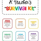 GIFT Teacher Survival Kit Tags - for a New Teacher or Stud