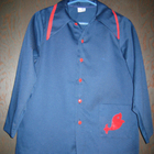 PAINTERS PAINT ART CENTER SMOCK BLUE with pocket COTTON GI