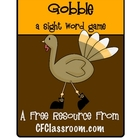 GOBBLE: A FREE Sight Word Game