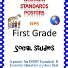 GPS Posters for Social Studies - First Grade (with EQ's)