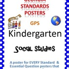 GPS Posters for Social Studies - Kindergarten (with EQ's)