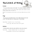 GUMS for Writing