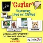 GUSTAR:  Expressing Likes and Dislikes Visuals Powerpoint
