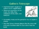 Galileo His Telescope & Observations Presentation (incline