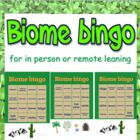 Game: 2 in 1 Biome & Ecosystem bingo