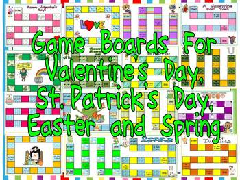 Game Boards Throughout the Year- 62 Game Boards for any gr