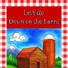 Game: Down on the Farm Cause &amp; Effect file folder center literacy