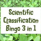 Game: Scientific classification bingo 36 unique cards & 75 clues