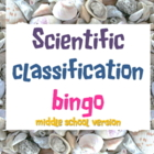 Game: Scientific classification bingo middle school version
