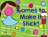 Games to Make It Stick Freebie