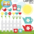 Spring Garden Clipart — Over 20 Graphics!
