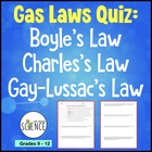 Gas Law Quiz: Boyle's, Charles's, Gay Lussac's Laws