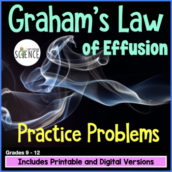 Gas Laws: Graham's Law of Diffusion Homework