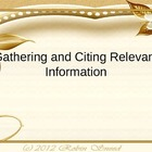 Gathering, Evaluating & Citing Sources (Aligned to Common