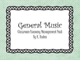 General Music Classroom Management Pack--Dots Decor