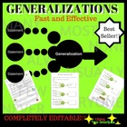 Generalizations - A Reading Strategy Worksheet