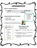 Generalizations Student Handout for Mini Lesson