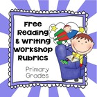 Generic Reading, Writing Workshop Rubrics, Printable PDF&#039;s