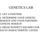 Genetics Lab Powerpoint Presentation