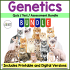 Genetics Quizzes and Tests - Set of 5 Quizzes and 1 Unit Test