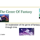 Genre Of Fantasy